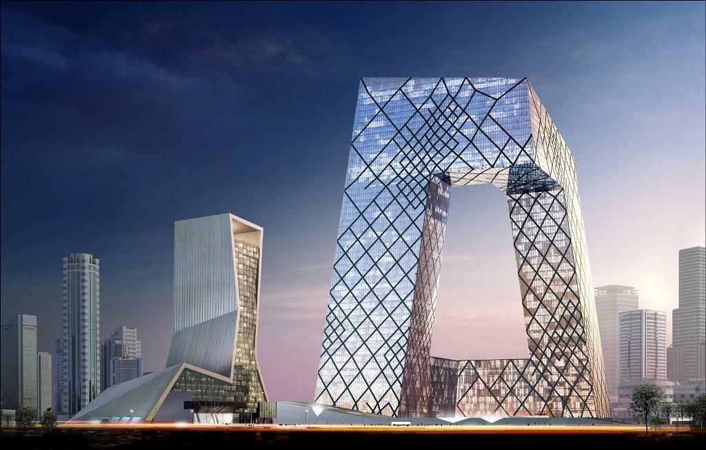 Здание штаб-квартиры китайского телевидения.
