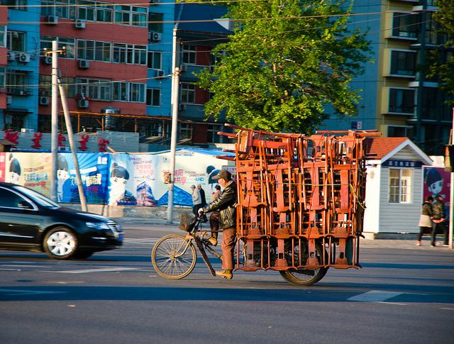 Велосипедная доставка в Китае