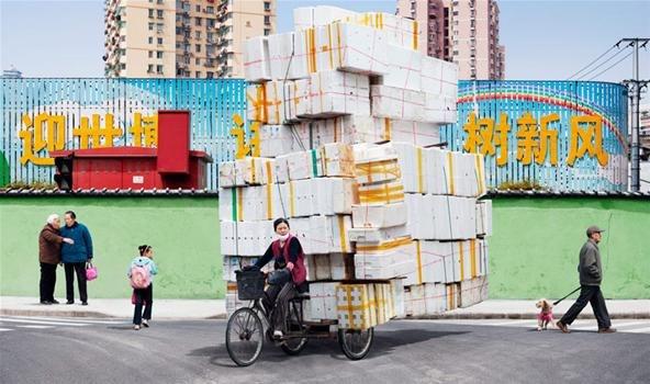 Велосипедная доставка от Алана Делорме, Китай