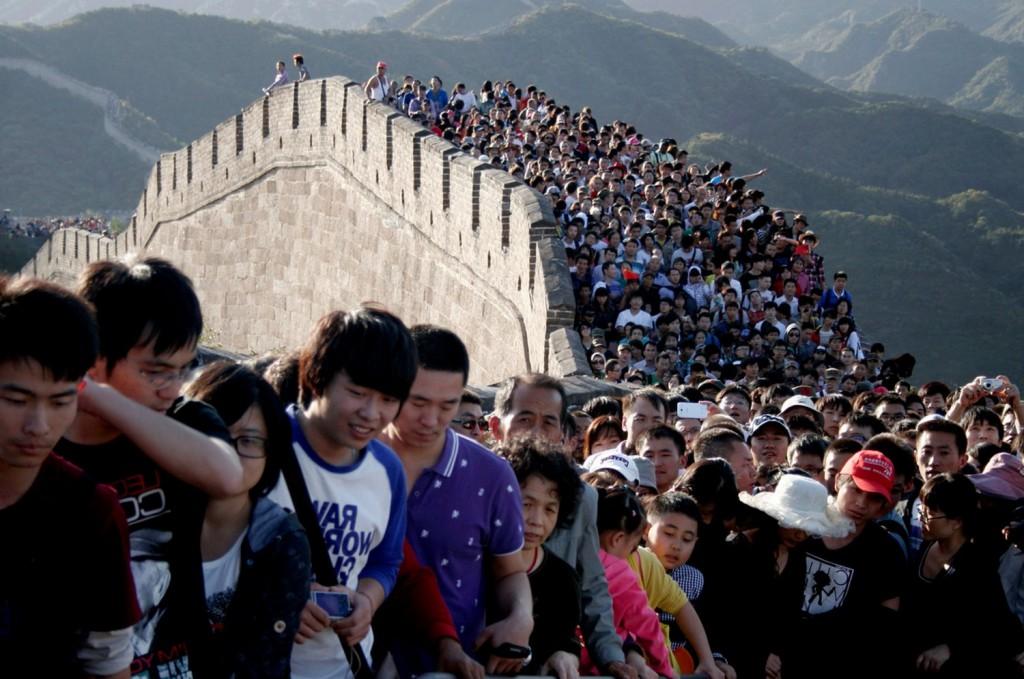 Великая китайская стена - туристы