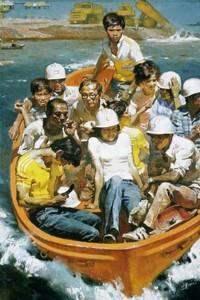"""Картина """"Новая волна"""". Чэнь Яньнин, 1984г. Источник фото - artinvestment.ru"""
