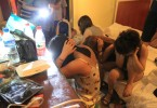 Chinese prostitutes during police raid