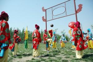 Традиционная древняя игра цуцзюй в КНР
