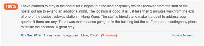 Лучший отзыв о хостеле Rainbow Longe HK - Hostelworld