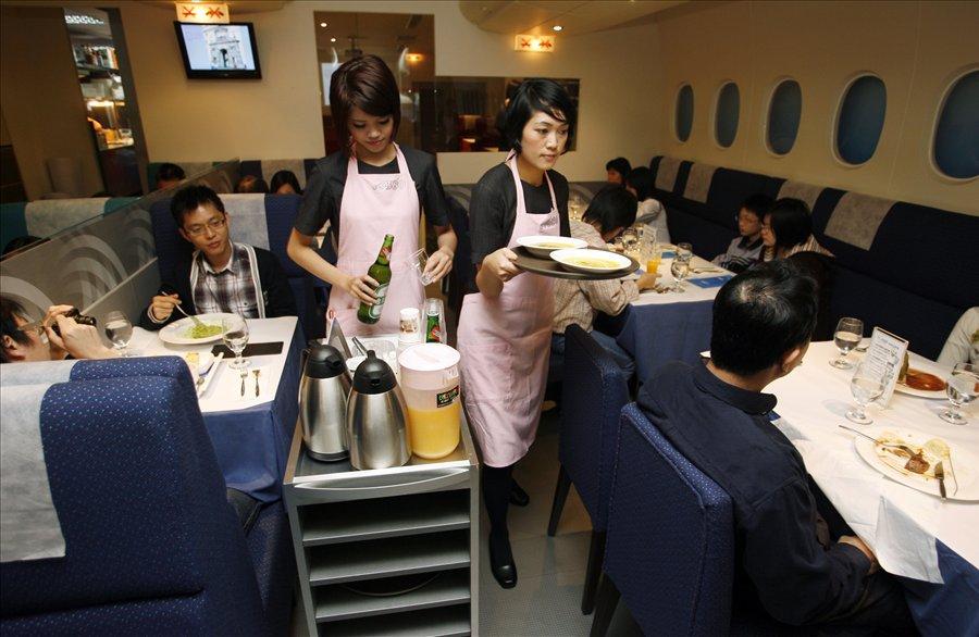 Ресторан-самолет в Китае