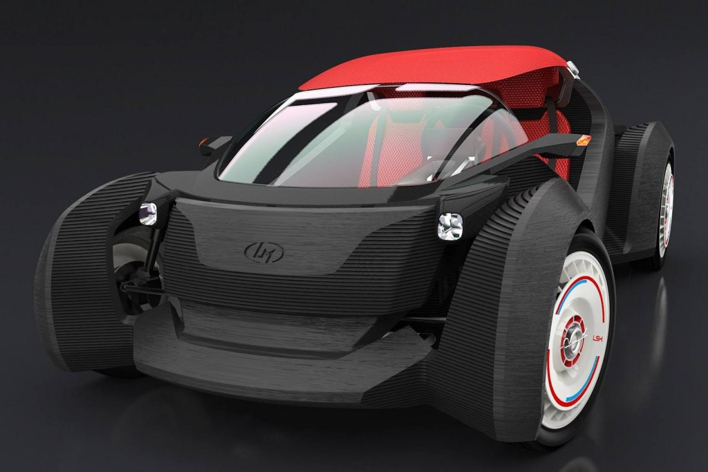 Strati. Вторая машина, изготовленная при помощи 3D принтера. Источник: localmotors.com