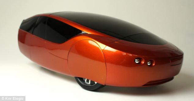 Urbee - первая в мире 3D машина. Источник: www.dailymail.co.uk