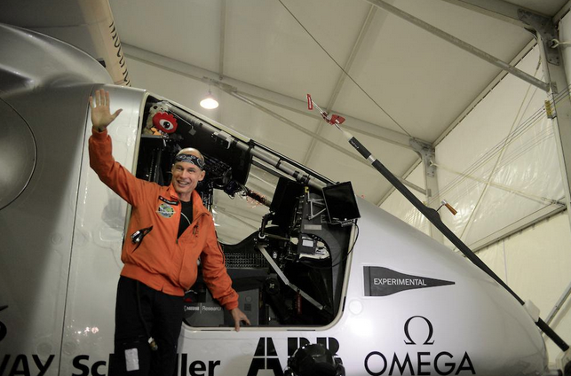 Бертран Пиккард, пилот самолета будущего. Источник: twitter.com
