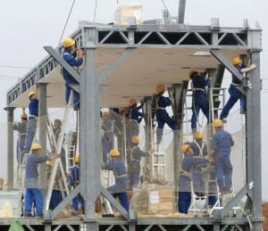 Монтаж строительного модуля. Источник фото: terraoko.com