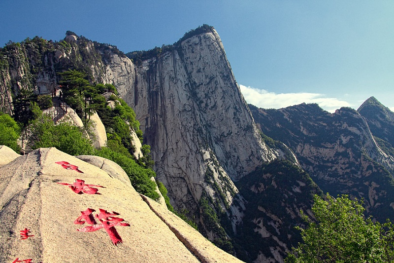 пейзаж горы Хуашань