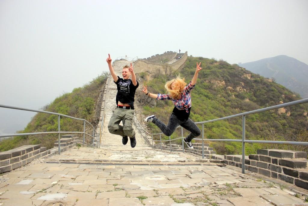 Счастливые иностранцы в Китае