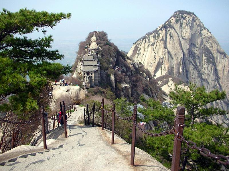 пейзаж с горы Хуашань