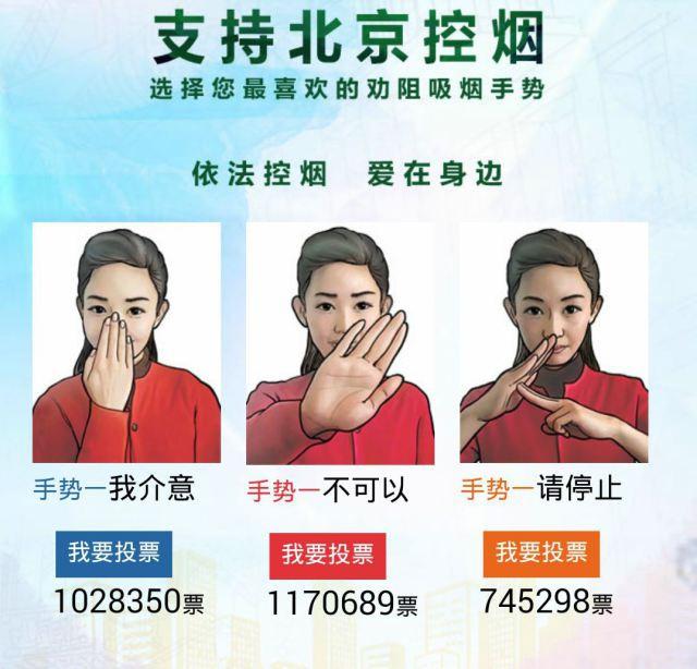 Антитабачные жесты для китайских детей