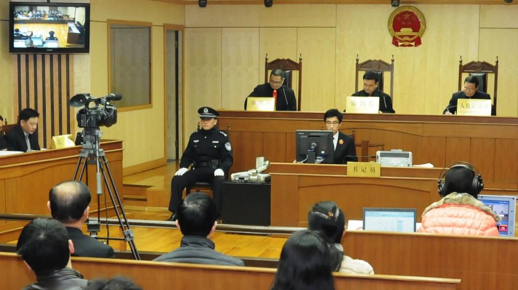 Редкий кадр: внутри китайского суда. Источник: https://media.npr.org