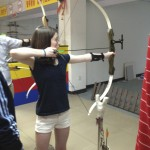 Девушка стреляет из лука, Daoshan стрельбище