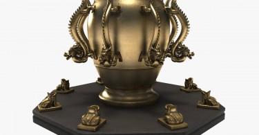 Древний китайский сейсмограф. Источник фото - ourimgs.com