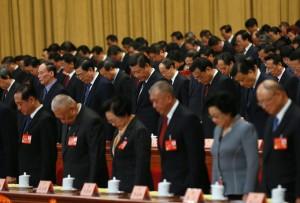 Китайские гос служащие, во главе с председателем КПК.  Источник фото - chinadaily.com.cn