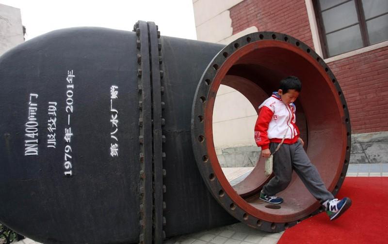Во дворе музея водопровода в Пекине. источник: globaltimes.cn