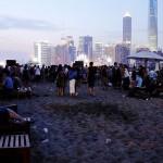 Пляж Cool Docks вечером, Шанхай