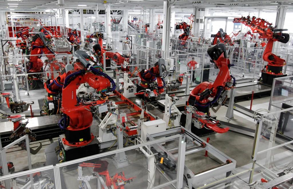 роботы на производстве в Китае
