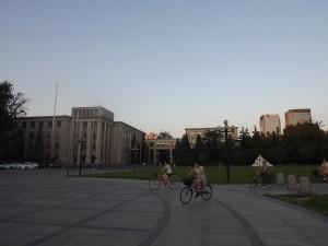 На территории университета