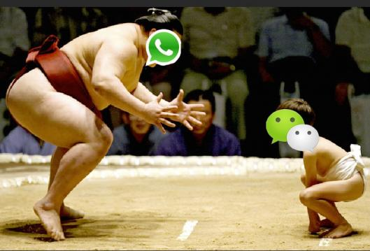 WeChat vs WhatsApp Источник www.tech.firstpost.com