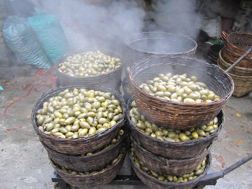 зеленый бинлан в корзинах