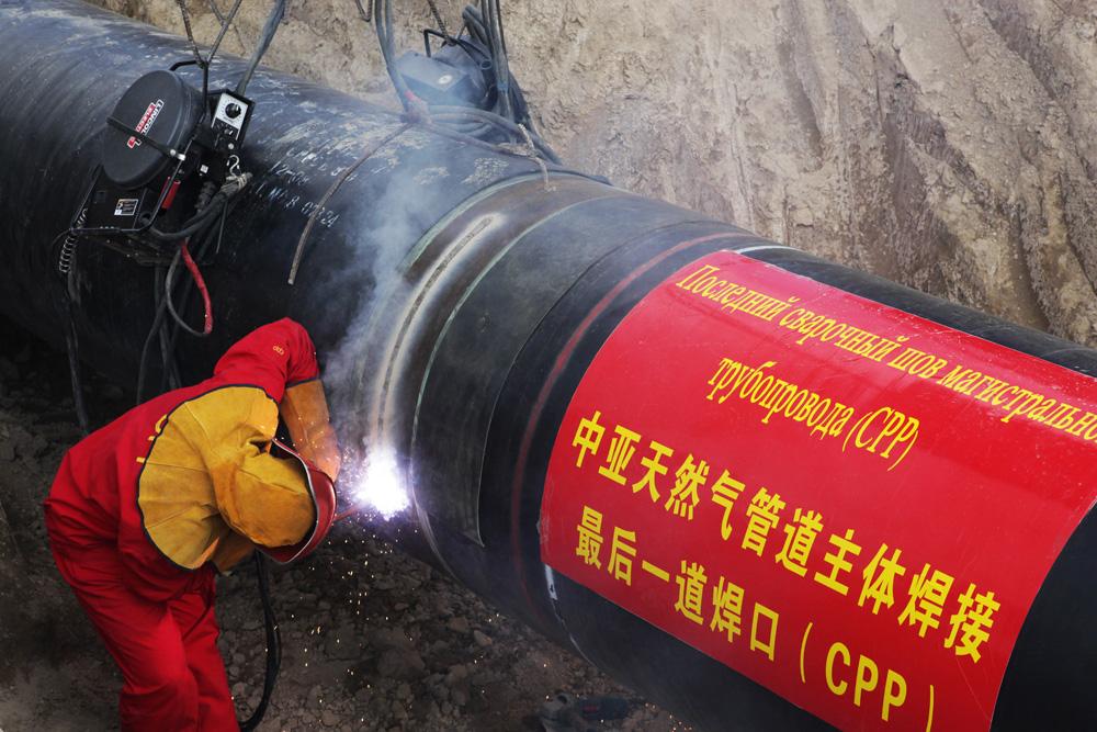 Центральноазиатский газопровод, ведущий в Китай