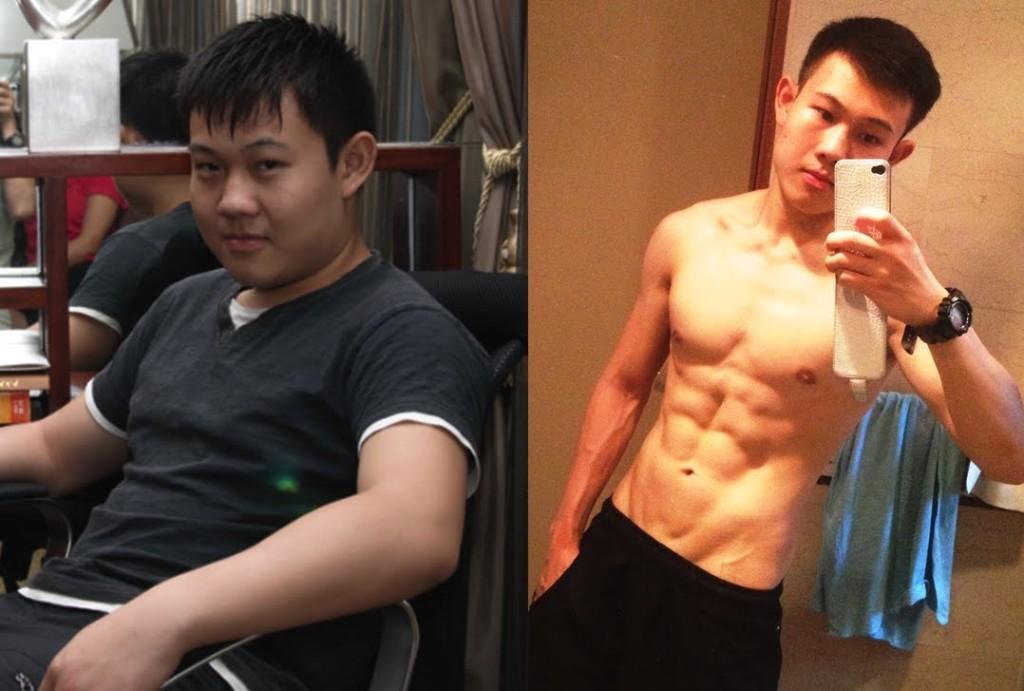 До и после похудения. Источник: www.youtube.com