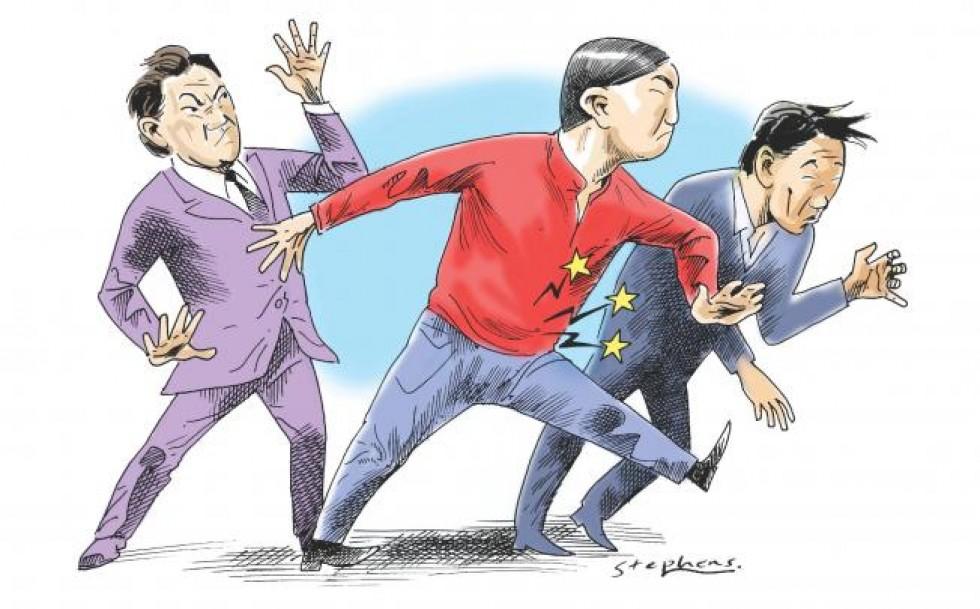 Грубые китайцы в иллюстрации