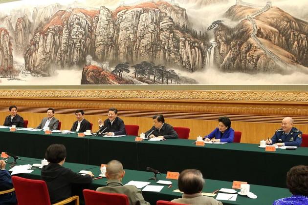 Китайский лидер Си Цзиньпин на встрече с деятелями культуры