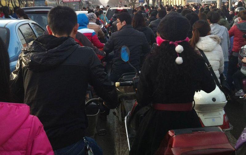 Пробка на дороге в Китае