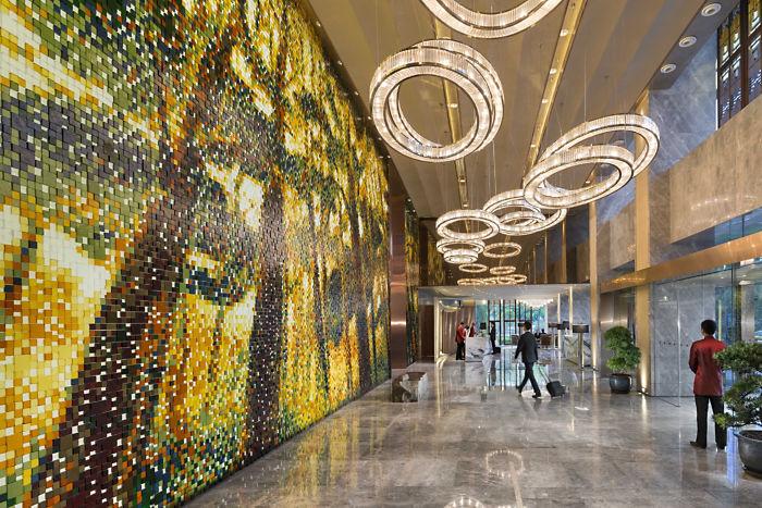 Вестибюль отеля Mandarin Oriental Pudong
