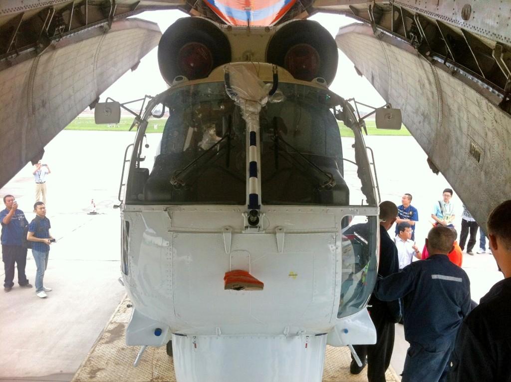 Выгрузка вертолета