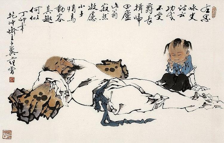 Современный художник Фан Цзэн отдаёт предпочтение традиционному китайскому стилю. Источник: invaluable.com