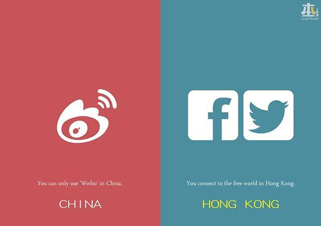 В Китае можно постить только в Wiebo, в Гонконге не заблокированы и Facebook с твиттером. Источник: shanghaiist.com