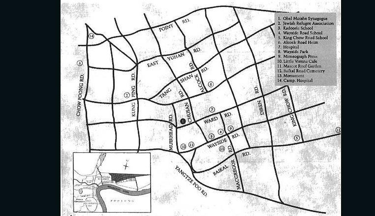 План еврейского гетто в Шанхае. На 1.5 квадратных километрах жило около 25 000 евреев. Источник: edition.cnn.com