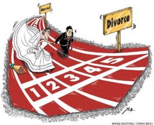 Иллюстрация к статье о разводах в издании China Daily. Источник: www.chinadaily.com.cn