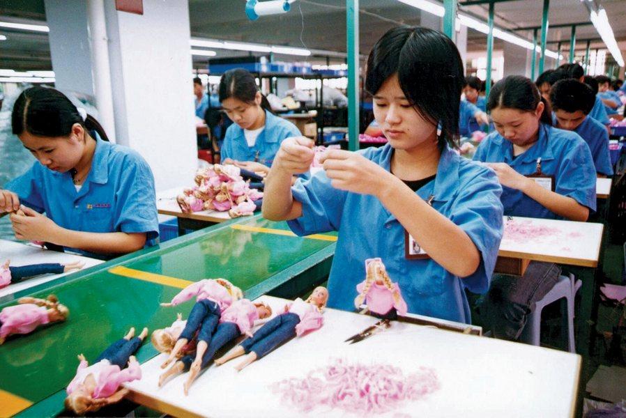 Китайский завод по производству игрушек