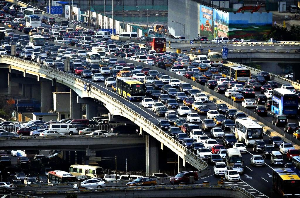 Пробки на китайских дорогах. Источник: REUTERS