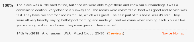 Лучший отзыв о Lucky Family Hostel