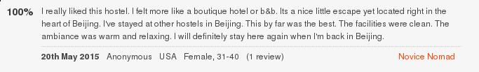 Лучший отзыв о Peking Station Hostel
