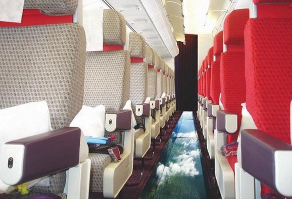 самолет с прозрачным полом