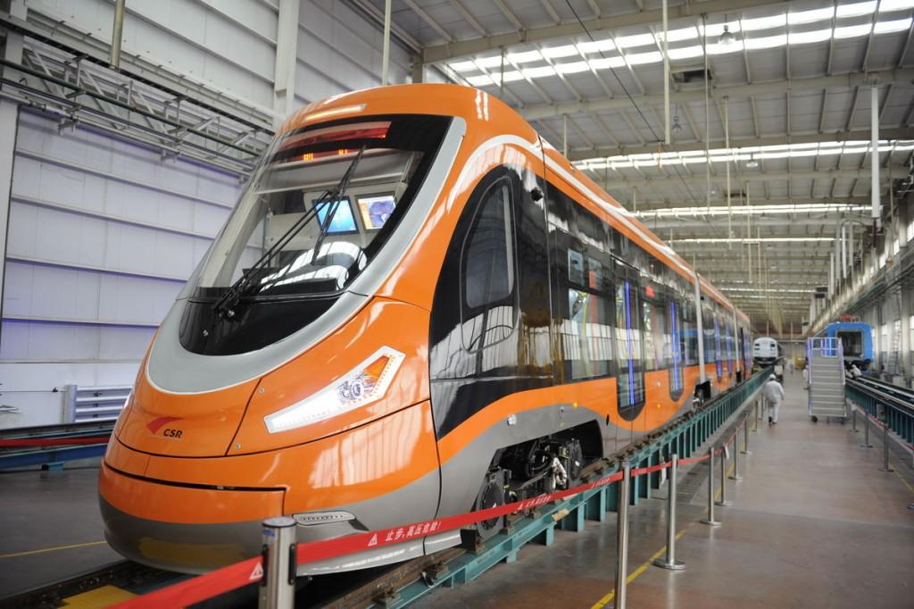 Водородный трамвай, разработанный CSR Sifang. Источник: www.bloomberg.com