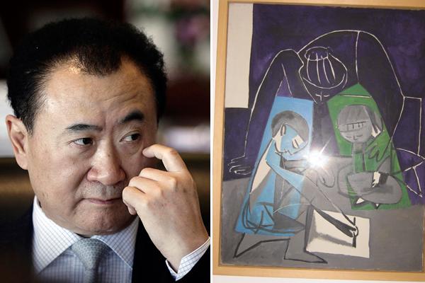 Китайский магнат и Пикассо. Источник: glamurama.uol.com.br