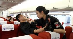 захват террориста в самолете китайской стюардессой