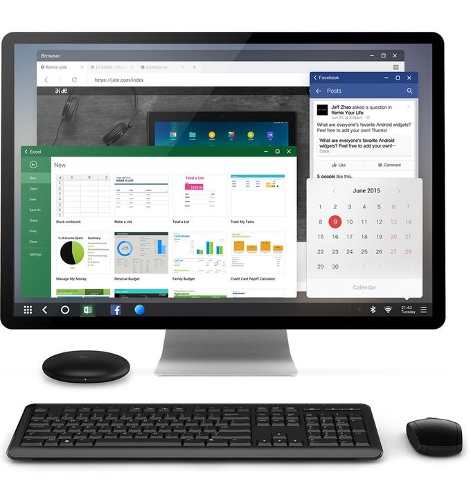 К Remix Mini можно подключить монитор, клавиатуру и мышку. Источник: kickstarter.com