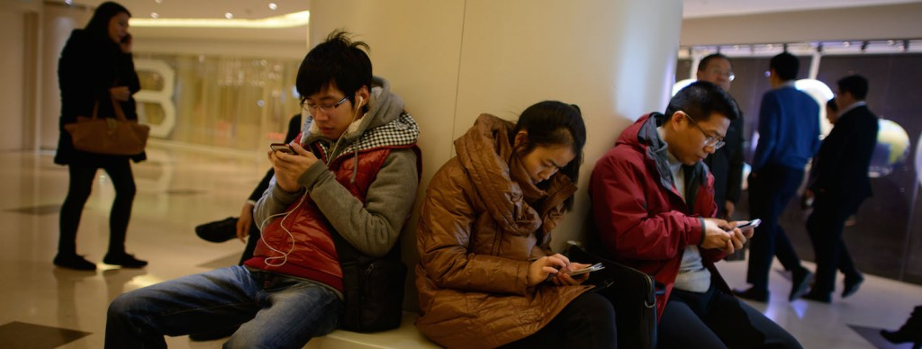КиИтайцы не играют в мобильные игры только когда спят! Источник:www.ideasforsingapore.com