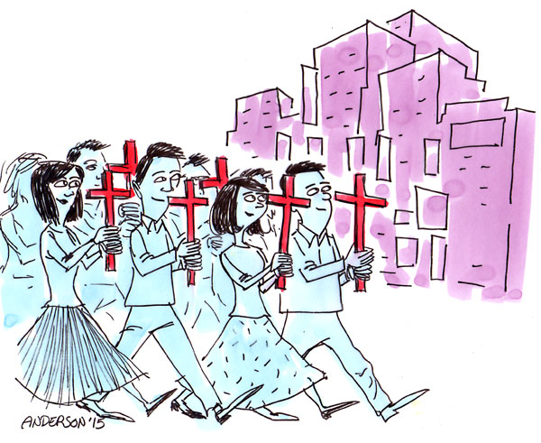 Карикатуры на происходящее в Китае. Источник christianpost.com
