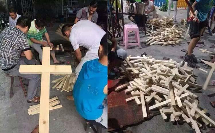 Вот так китайцы мастерят самодельные кресты. Истоник www.christianmetro.com